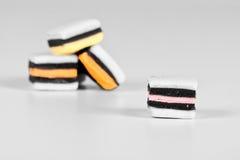 Allsorts monocromatico con colore selettivo Immagini Stock