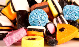 Allsorts sweets lying together Stock Image