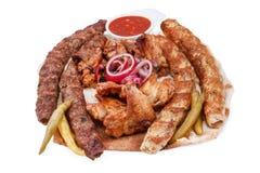Allsorts von einem Kebab Lizenzfreies Stockbild