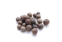 Allspice. Whole allspice on white background Stock Image
