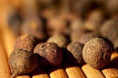 Allspice close-up. Cooking ingredients Stock Photos