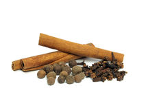 Allspice, Cloves And Cinnamon Stock Photography