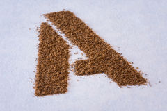 A for Allspice Stock Photography