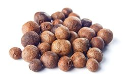 Allspice isolated on white. Background royalty free stock photography