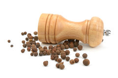 Allspice  and  mill Stock Image