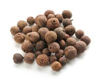 Allspice pepper on white background royalty free stock photo