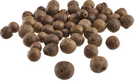 Allspice. Scattered on the table with peas, whole Stock Photography