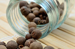 Allspice on table Royalty Free Stock Photos