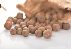 Allspice. Wonderful combination of cinnamon and allspice royalty free stock images