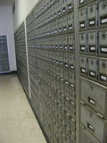 allt boxes stängda siffror som numreras kontorsstolpe tre royaltyfri foto
