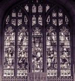 Allt fönster BW för kyrklig målat glass för helgon östligt Royaltyfria Bilder