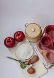 Allt för äppelpaj Arkivbilder