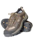 Allt fotvandra för utbildning för terrain som argt är lättvikts-, skor arkivfoto