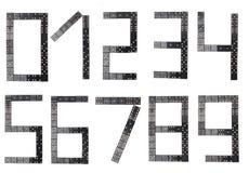 Allt nummer som göras av svarta dominotegelplattor Royaltyfri Fotografi