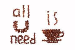 Allt som du behöver, är kaffe Royaltyfri Foto