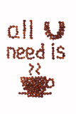 Allt som du behöver, är kaffe Royaltyfria Bilder