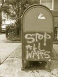 allt teckenstopp kriger Arkivbild