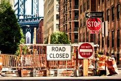 Alltagsleben auf Allee acht in New York Stockbilder