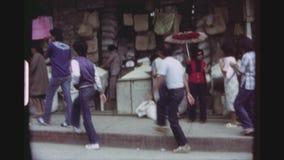 Alltagsleben in Baguio-Stadt stock video