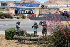 ALLTAGSLEBEN IN BOULDER-STADT NEVADA_BUSINESS UND IN DEN KÜNSTEN lizenzfreie stockfotografie