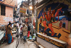 Alltagsleben der Varanasi-Leute Stockfotos