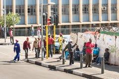 Alltagsleben in Johannesburg in Südafrika Stockfotografie