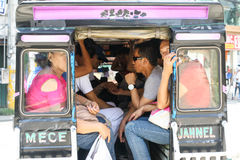 Alltagsleben von Filipinos in Cebu-Stadt Philippinen stockbild