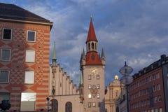 Alltes Rathaus München Stock Afbeeldingen
