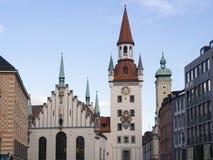 Alltes Rathaus Monaco di Baviera Fotografia Stock