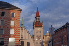 Alltes Rathaus Munich Stock Images