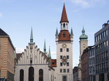 Alltes Rathaus Munich Stock Photo