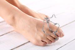Alluce, piede facente male Fotografia Stock Libera da Diritti