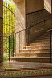 Allumage d'un escalier, Tlaquepaque photographie stock