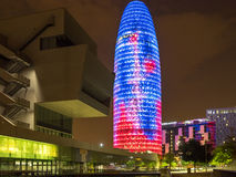 Allumage vers le haut de Barcelone Images stock
