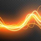 Allumant le vecteur électrique d'étincelle de lueur d'orage transparent illustration stock
