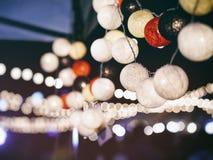 Allume le fond extérieur de festival de décoration image stock