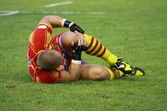 Allumette amicale française USAP de rugby contre emballer la métro Image libre de droits
