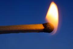Allumette brûlante Images libres de droits