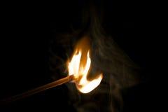 Allumette brûlante Images stock