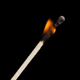 Allumette brûlante Photo stock