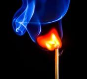 Allumette brûlante Photographie stock libre de droits