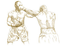 Allumette de boxe illustration libre de droits