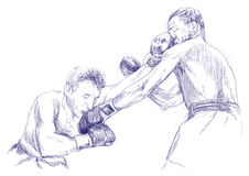 Allumette de boxe illustration stock