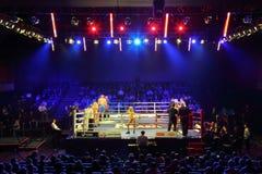Allumette de boxe : I.Ismailov contre F.Khrgovich Image stock