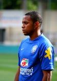 Allumette de football amicale Brésil contre l'Algérie Photos libres de droits