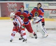 Allumette de hockey sur glace Photos libres de droits