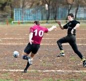 Allumette de ligue de rugby. Image libre de droits
