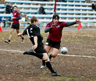 Allumette de ligue de rugby. Image stock