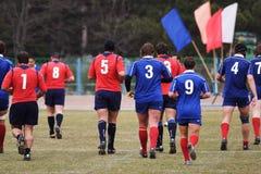 Allumette de rugby. Photographie stock
