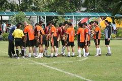 Allumette footbal d'école, Thaïlande. Photo stock